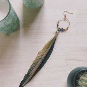 Amazone plume de perroquet et suédine