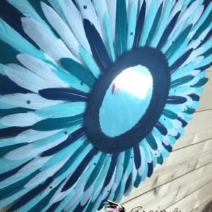 Juju hat miroir bleu 60 cm2