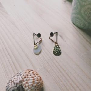 Puces d'oreilles collection dorée