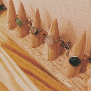 Bagues gemmes 12 mm en pierres