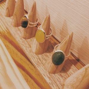 Bagues gemmes 13x18 mm en pierres
