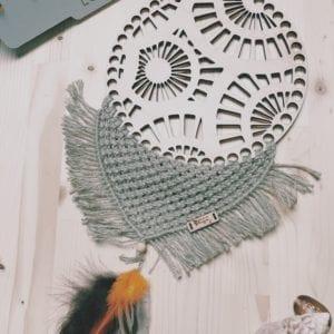 Attrape-rêve 20 cm base en bois et macramé