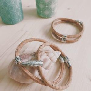 Bracelet homme aimanté en liège naturel
