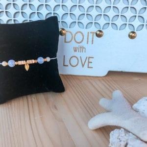 Bracelet de cheville & pierres gemmes