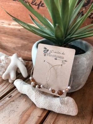 Collection créoles argentées perles gemmes